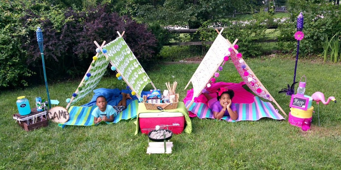 Camp Glamp Backyard Summer Ideas