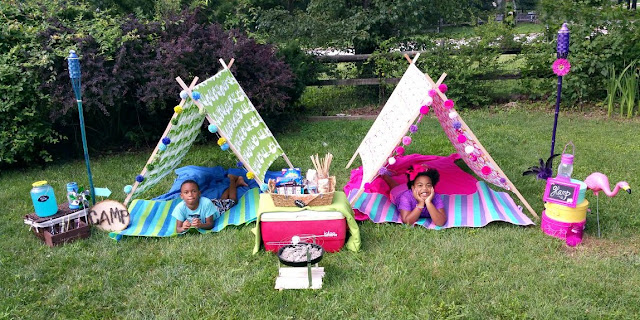 camp, glamp, backyard, summer ideas