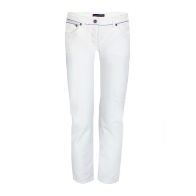 the row white cropped denim selvedge jeans
