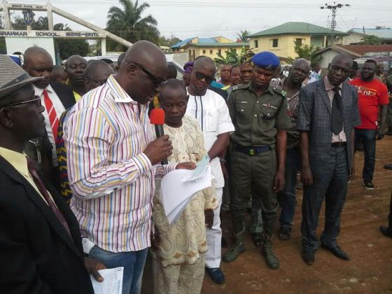 Governor Fayose compensates Ekiti landlords whose houses were demolished