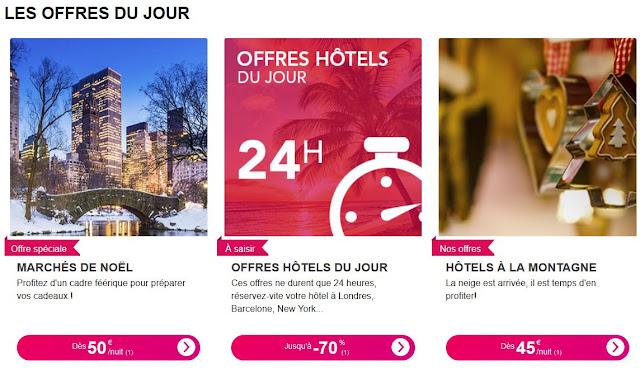 offres Hôtels SNCF