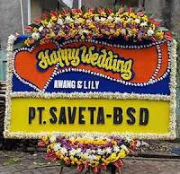 Papan Bunga Ucapan Happy Wedding ke Masjid Raya Pondok Indah Jakarta