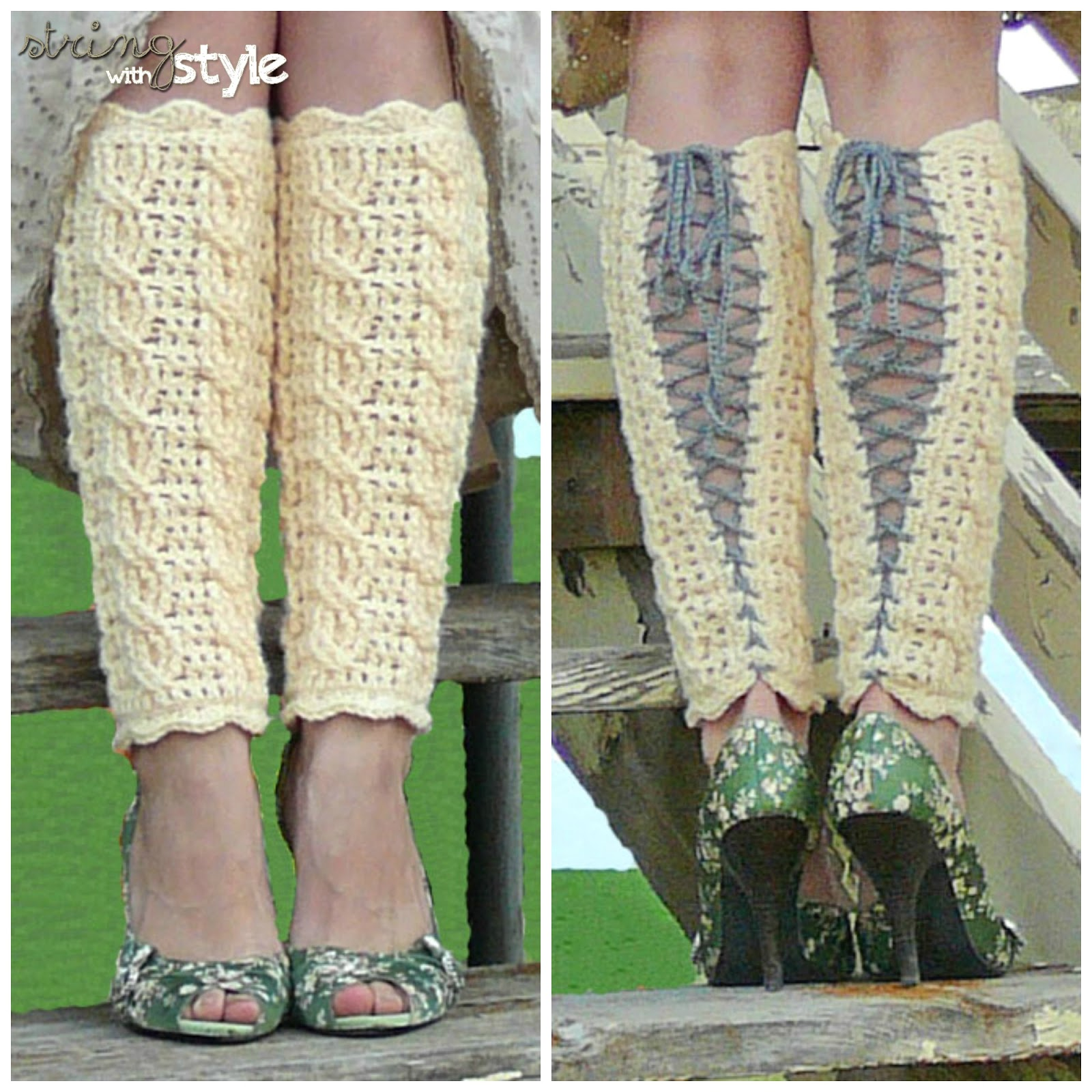 String With Style: Cables of Love Legwarmers