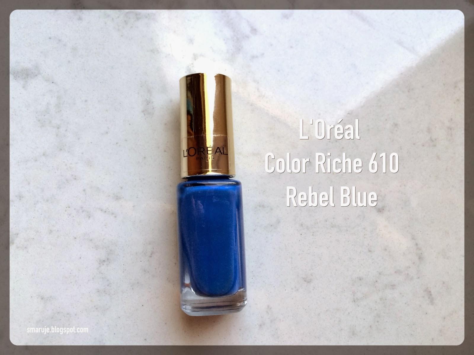 Niebieskie niejednoznaczności od L'Oréal: Color Riche nr 610 Rebel Blue