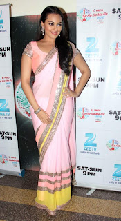 0007 Sonakshi Sinha Pictures in Pinky Saree at Dabangg 2 Promotions