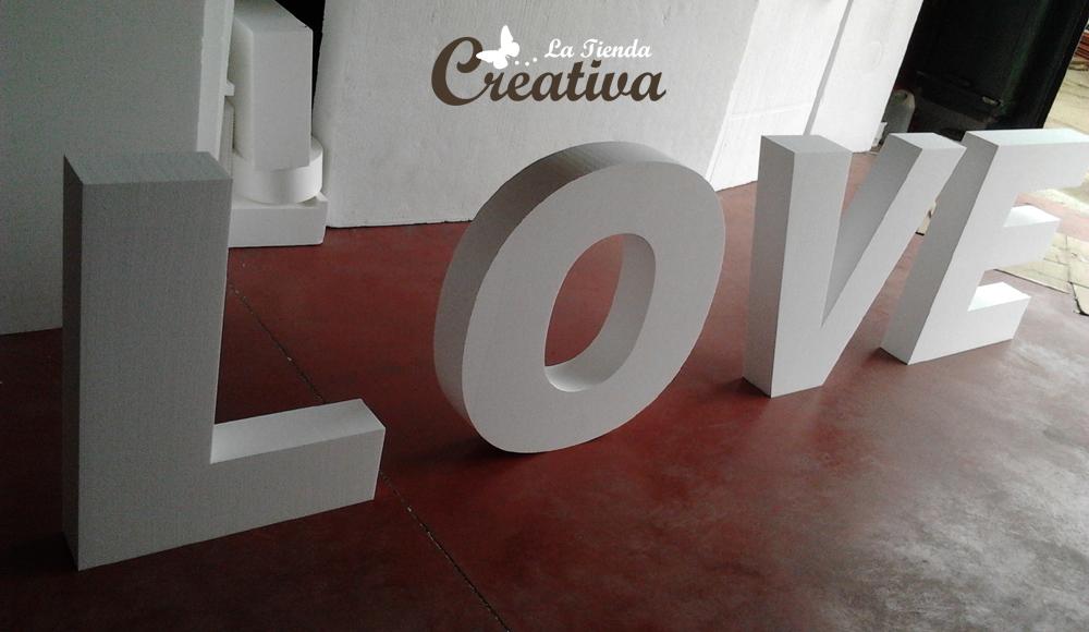 La tienda creativa letras para decorar y mucho m s letras gigantes para bodas o estudios - Decorar letras de corcho blanco ...