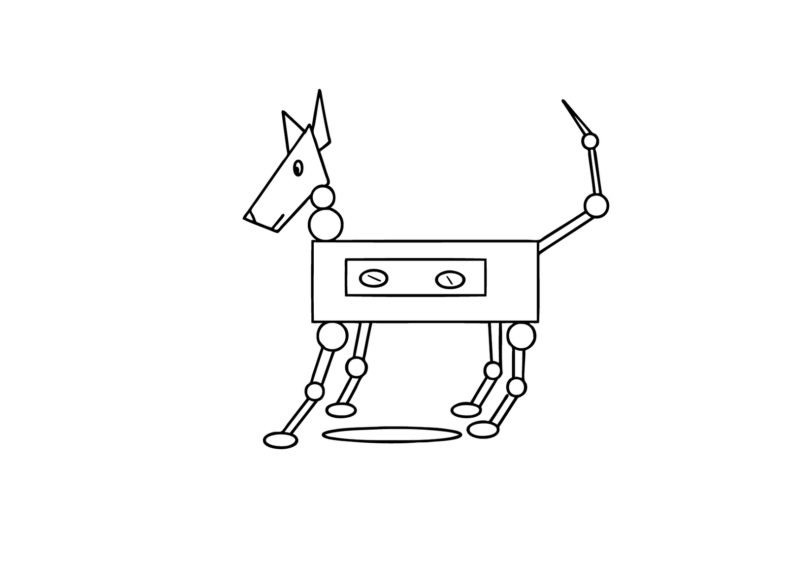Robot Dog Coloring Pages Bull