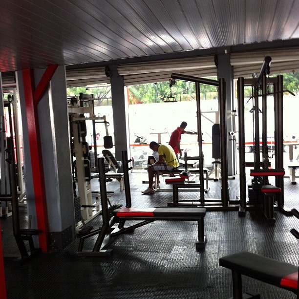 Felipe Franco exercitando o corpo treino de musculação