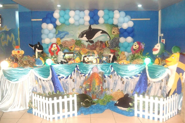 Tema de festa infantil Fundo do Mar