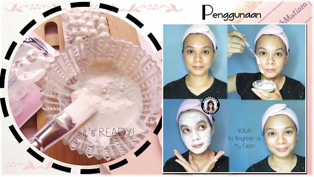 Penggunaan Ovale Masker Bedak Dingin Whitening