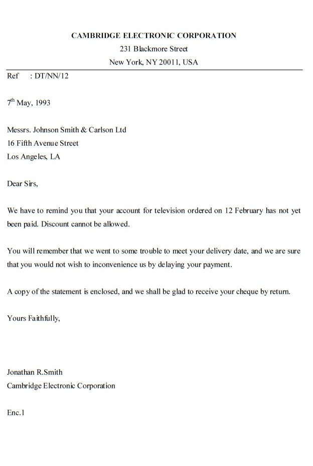INQUIRY LETTER – Example of Inquiry Letter in Business