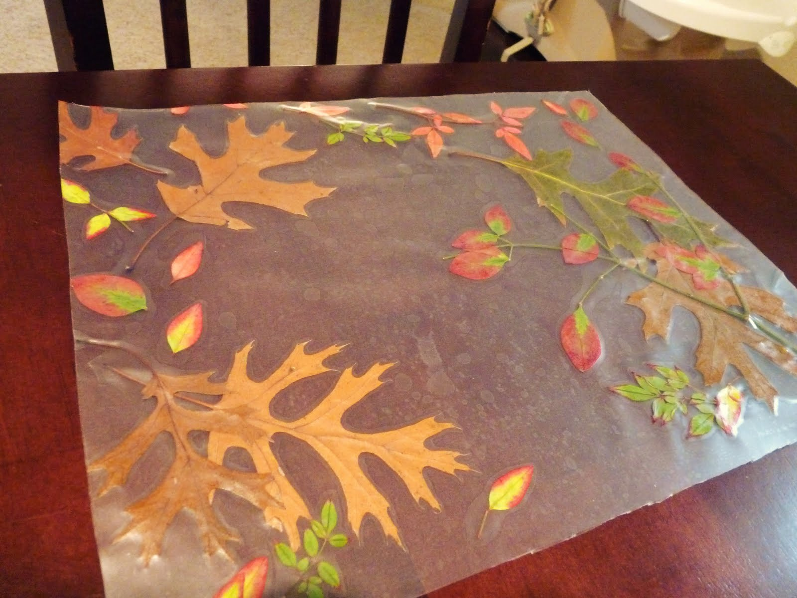 Candace creations autumn placemat crafts with kids for Simple fall crafts for kids