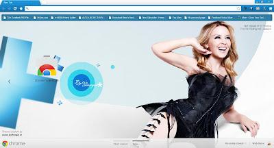 Kylie Minogue Google Chrome Theme