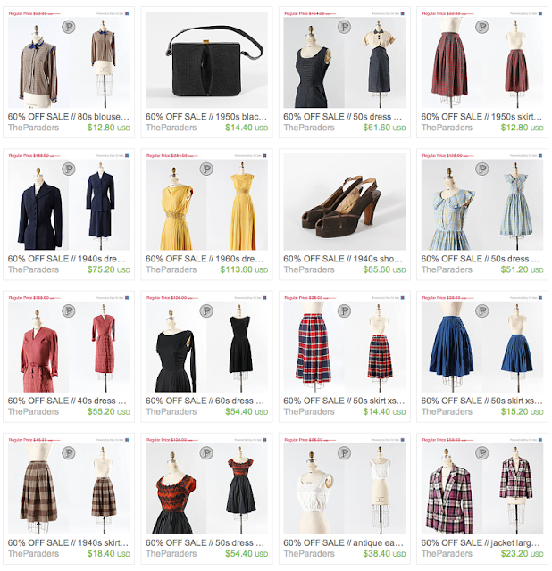 Vintage clothing sale 60% off!! #vintage #clothing #fashion #sale #retro
