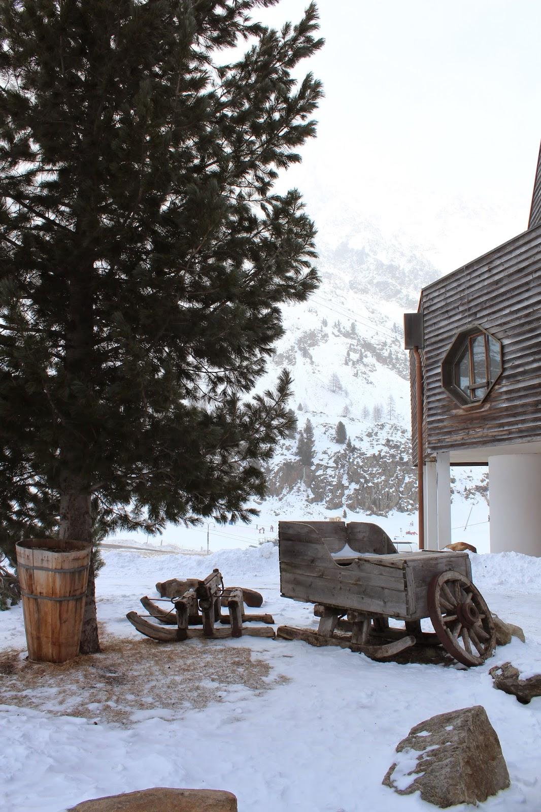 stare drewniane sanki,old wood recycled,choinka, snieg zdjęcie