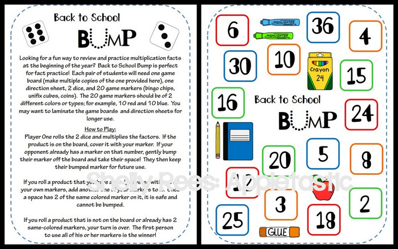 TpT Back to School Resources Link Up Appletastic Learning – Back to School Math Worksheets
