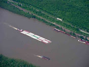 Barge on the Mississippi River, Missouri