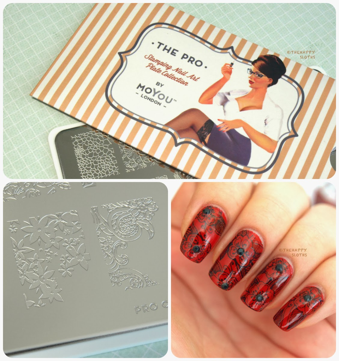 MoYou London The Pro Collection Stamping Nail Art Plate #06 (XL ...