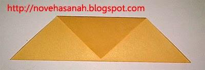langkah ketiga pembuatan origami serigala sangat cocok untuk anak-anak tk atau sd kelas rendah