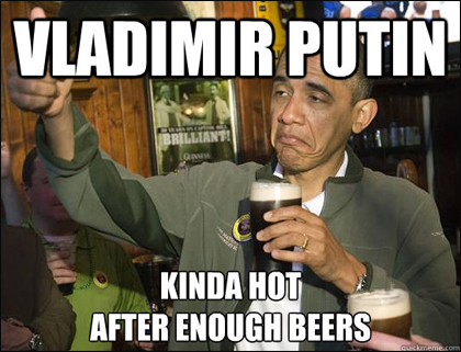 Vladimir Putin Meme: Obama with Beers