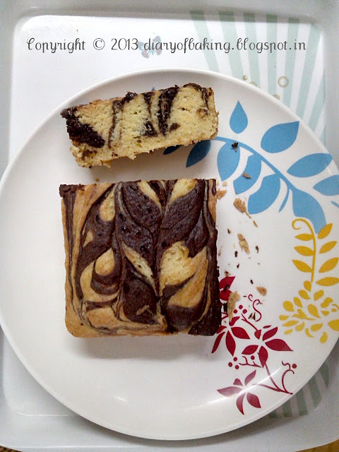 eggless chocolate marble cake