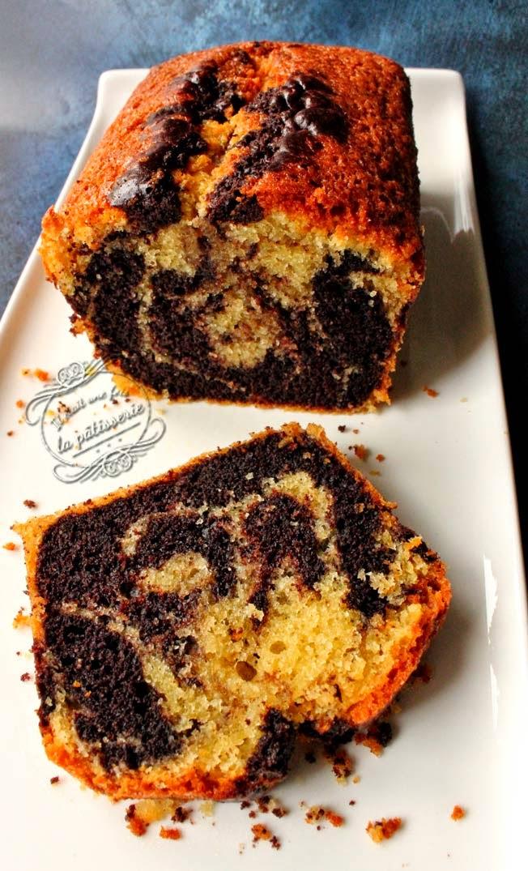 recette du cake marbré