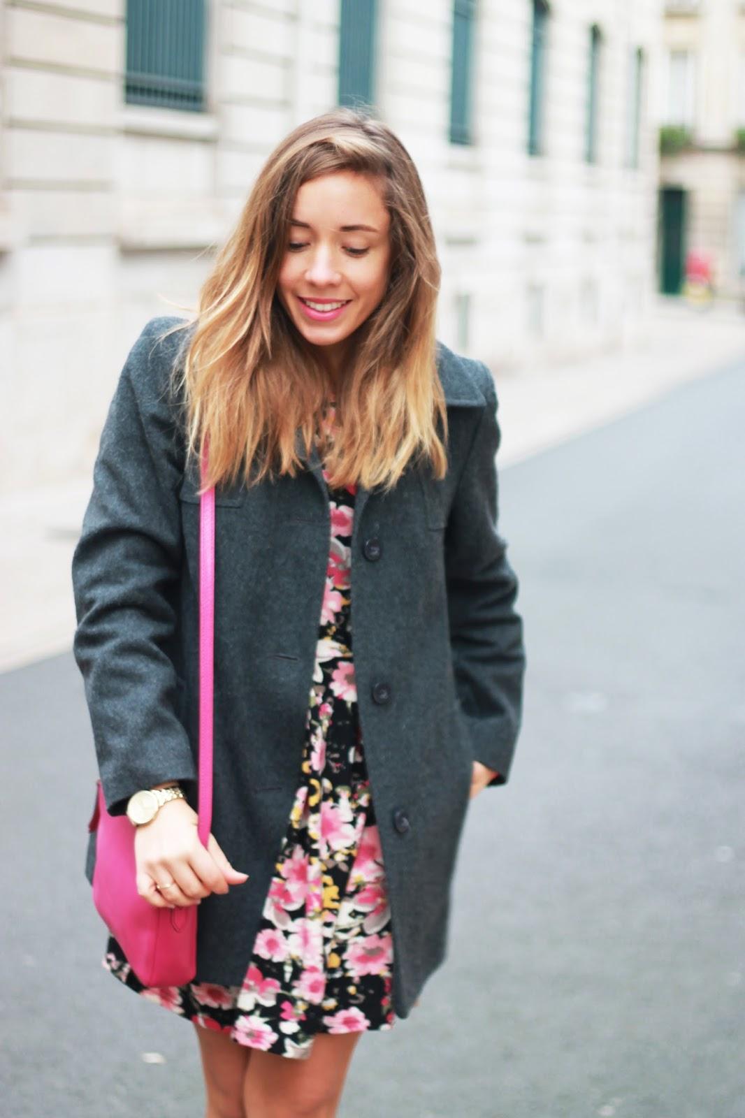 Manteau gris vintage