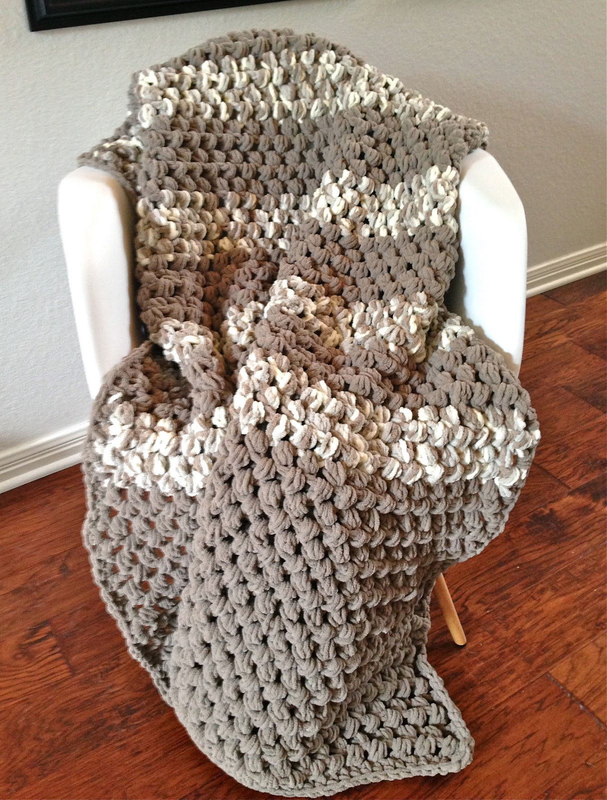Crochet Patterns Using Bernat Blanket Yarn : happy to report, that my kiddo digs his Puffy Pre-Teen Blanket ...