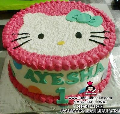 Kue Tart Hello Kitty Buttercream Daerah Surabaya - Sidoarjo