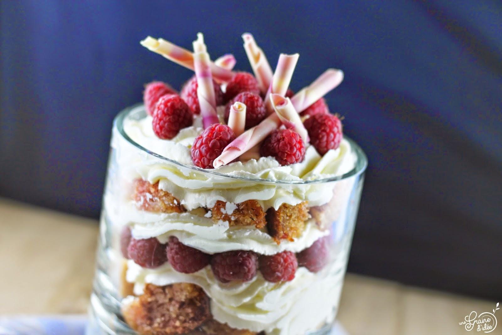 Trifle Framboises et Pralines Roses - Une Graine d'Idée