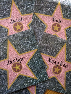 Movie star place cards