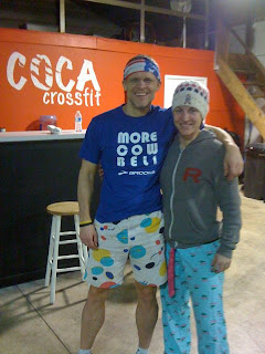 Kate Rawlings and Eric Gibbs pose for Wal-Mart WOD Wednesday