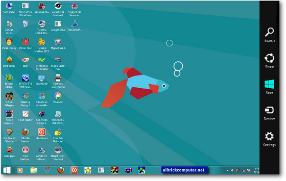 Tampilan windows 7 menggunakan Windows 8 transformation pack