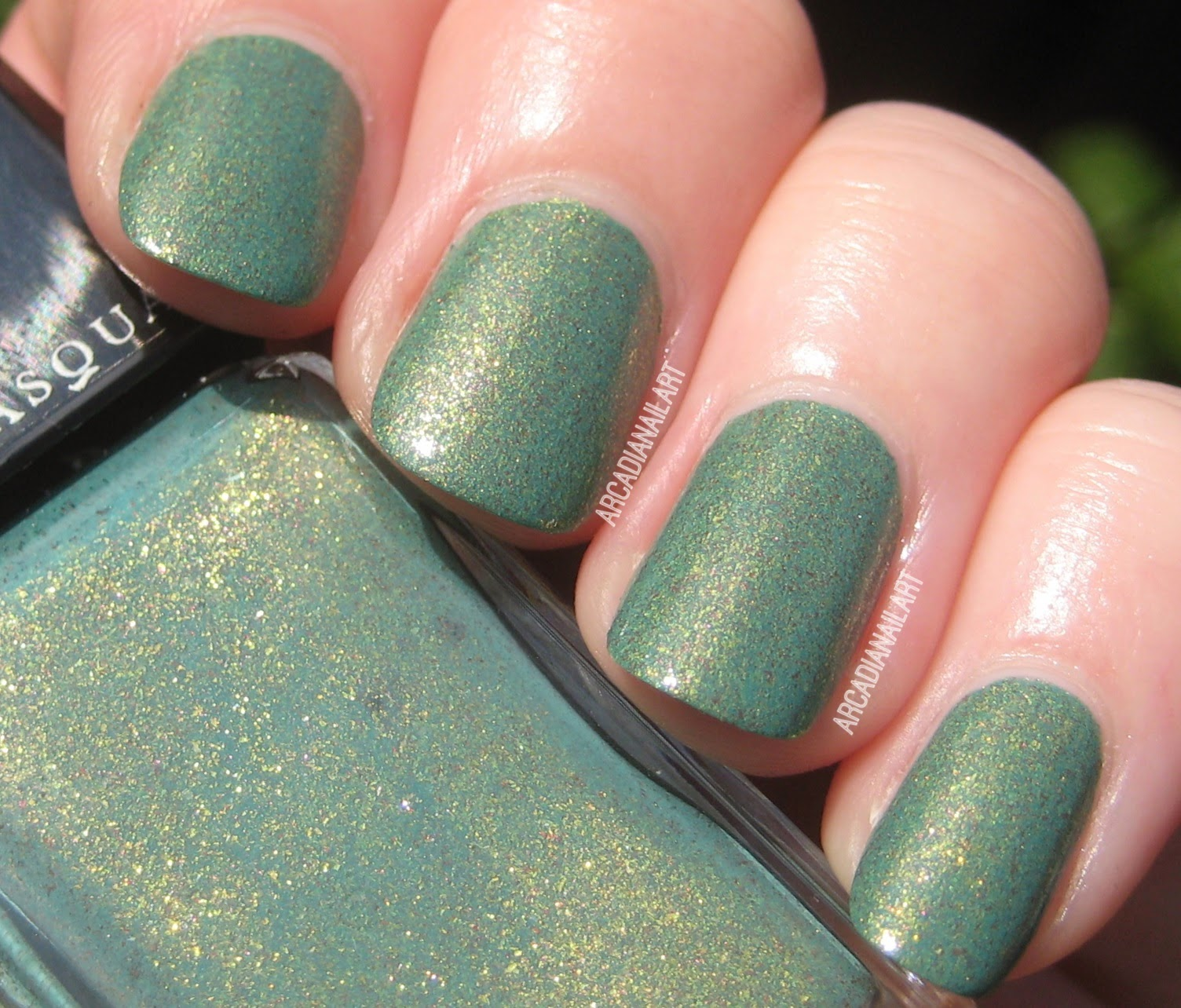 Jade Green Foiled Nail Polish by Illamasqua, Melange