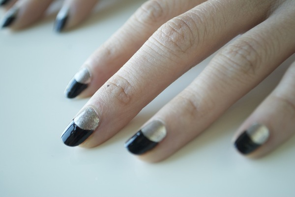 gow to do a Half moon nail manicure tutorial