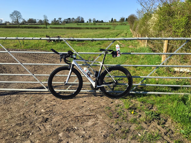 storck bike against gate