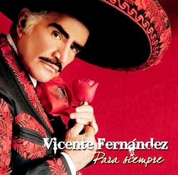 Foto de Vicente Fernández en su portada de Album