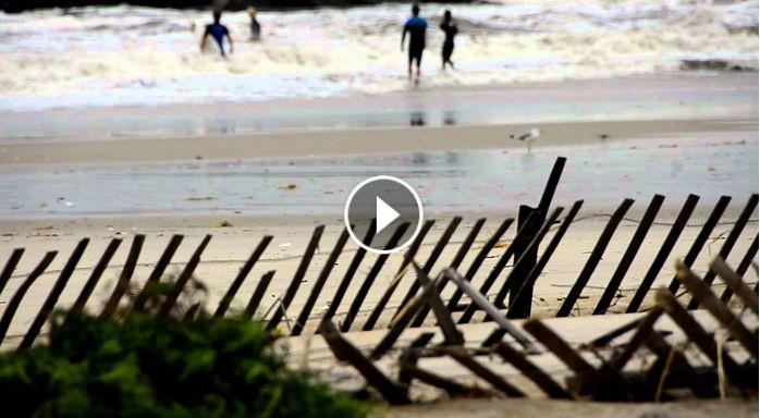 Belmar Beach NJ after Irene 8-28-2011