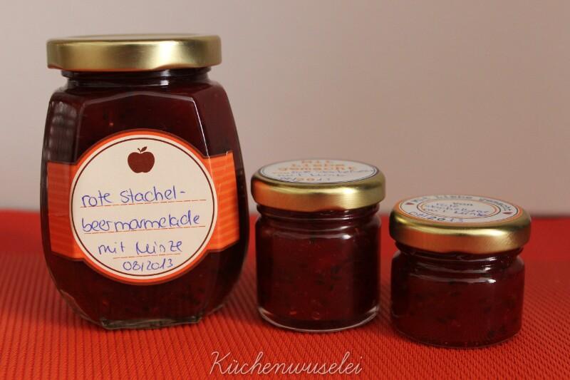 k chenwuselei rote stachelbeer marmelade mit minze. Black Bedroom Furniture Sets. Home Design Ideas