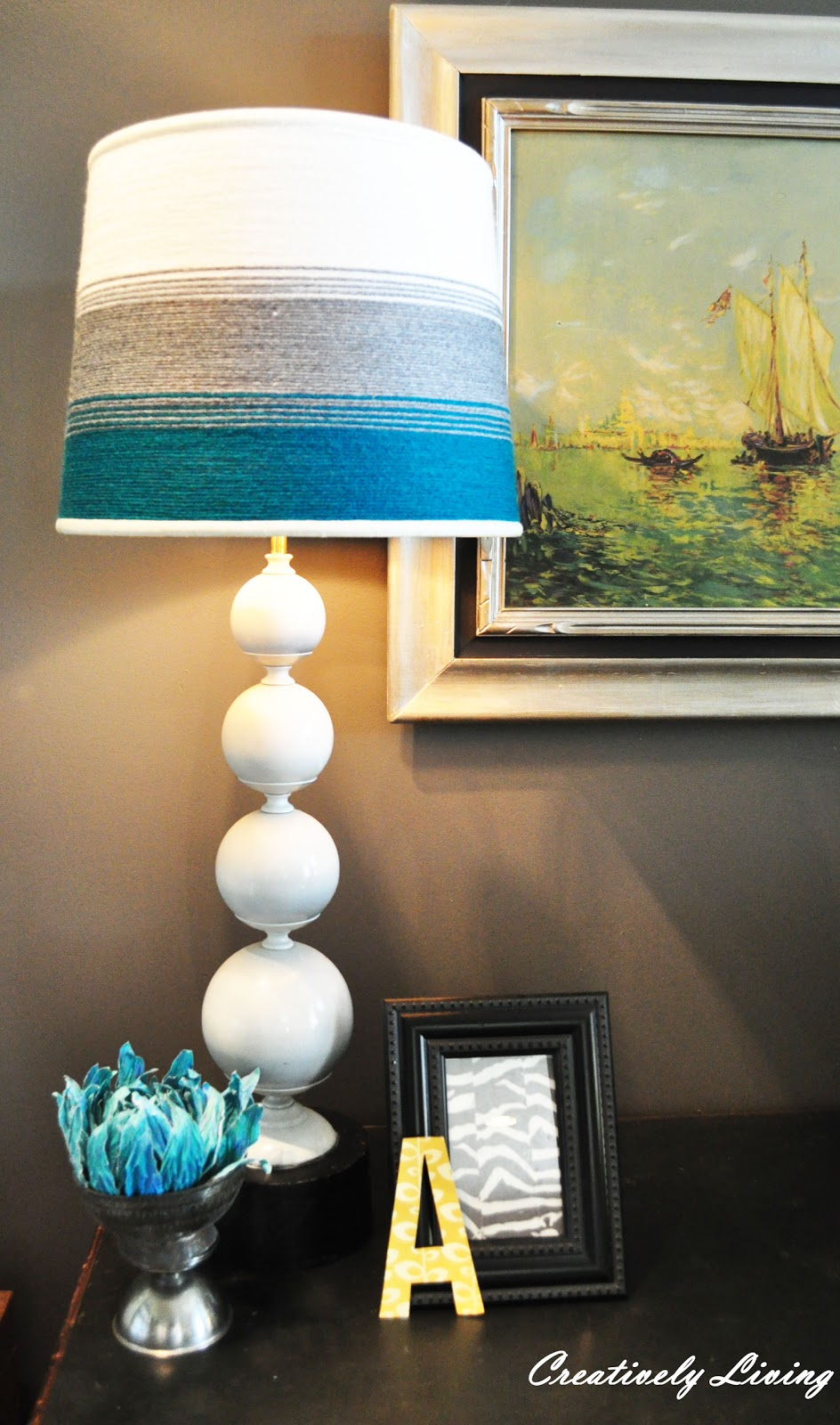 My cool bubble base yarning a lamp shade creatively for Funny lamps for sale