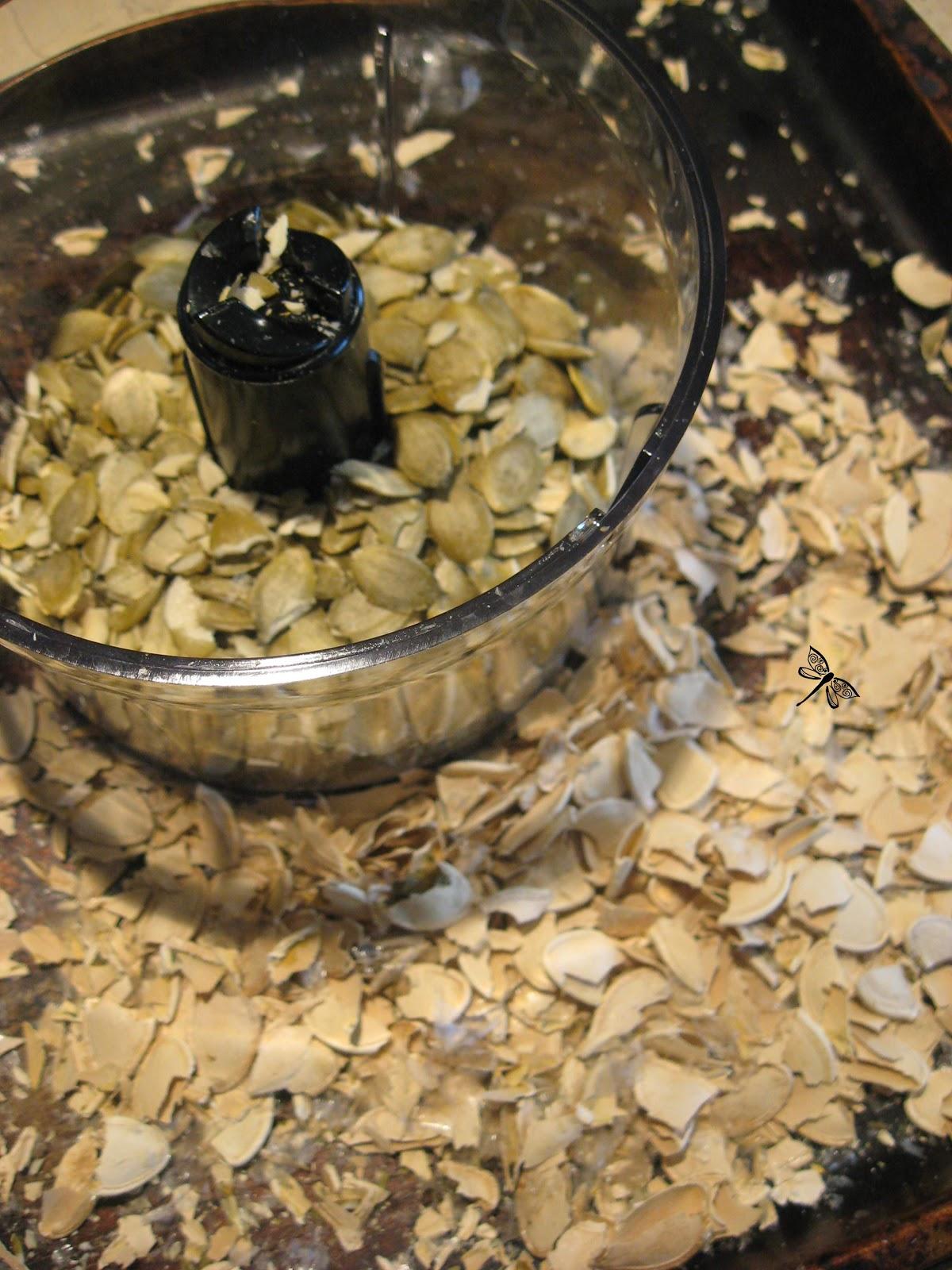 Libellule et ses spatules beurre de graines de citrouilles - Graines de citrouille grillees au four ...