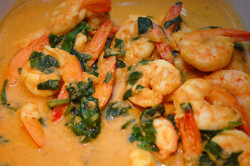 Successful Paleo Recipes: Curried Shrimp and Spinach