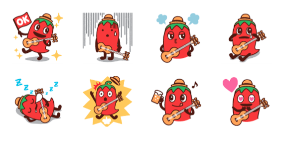 Hot Pepper Gourmet Peparo line stickers