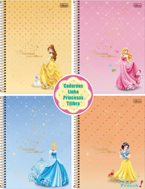 Volta ás aulas: Cadernos linha princess tilibra 2013