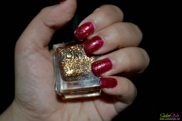 NOTD! Gold Glitters Nails with Opi Meep Meep Meep Base Nail Polish