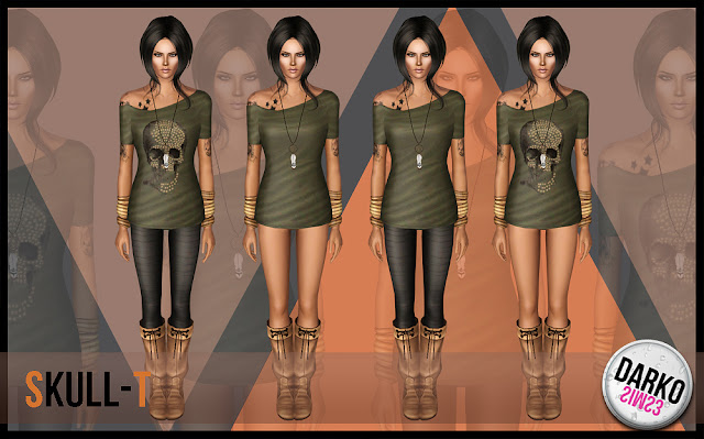 Skull-T Female Outfit by Darko Dvdvd