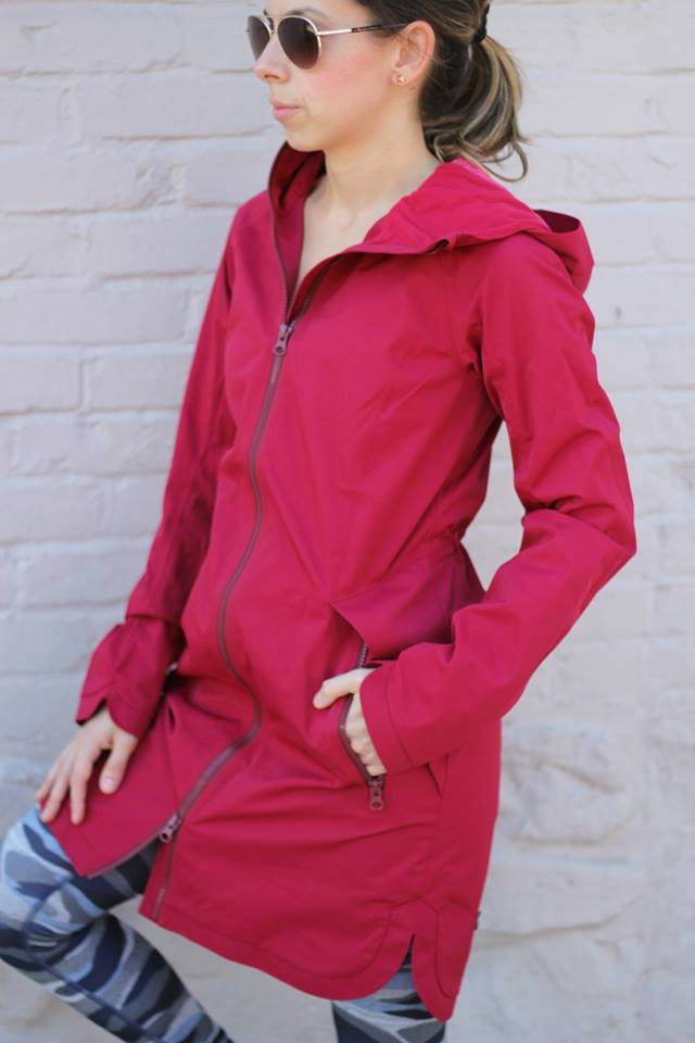 lululemon definitely-raining-jacket cranberry