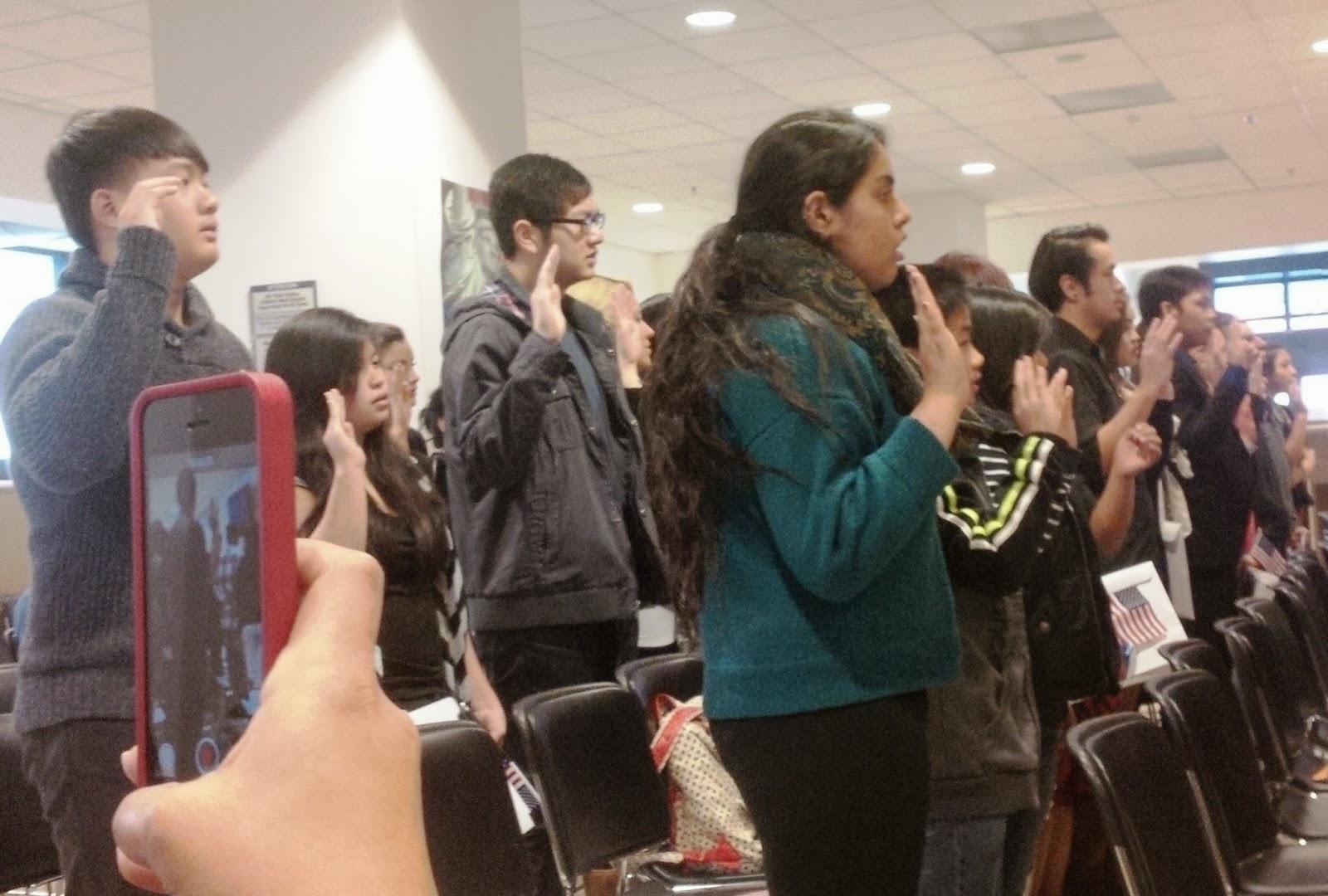 US Citizenship Podcast: USCIS SF N600 Citizenship Ceremony