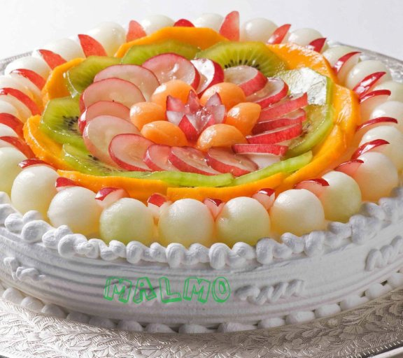 Fresh cream cake malmo for Decoration fruit