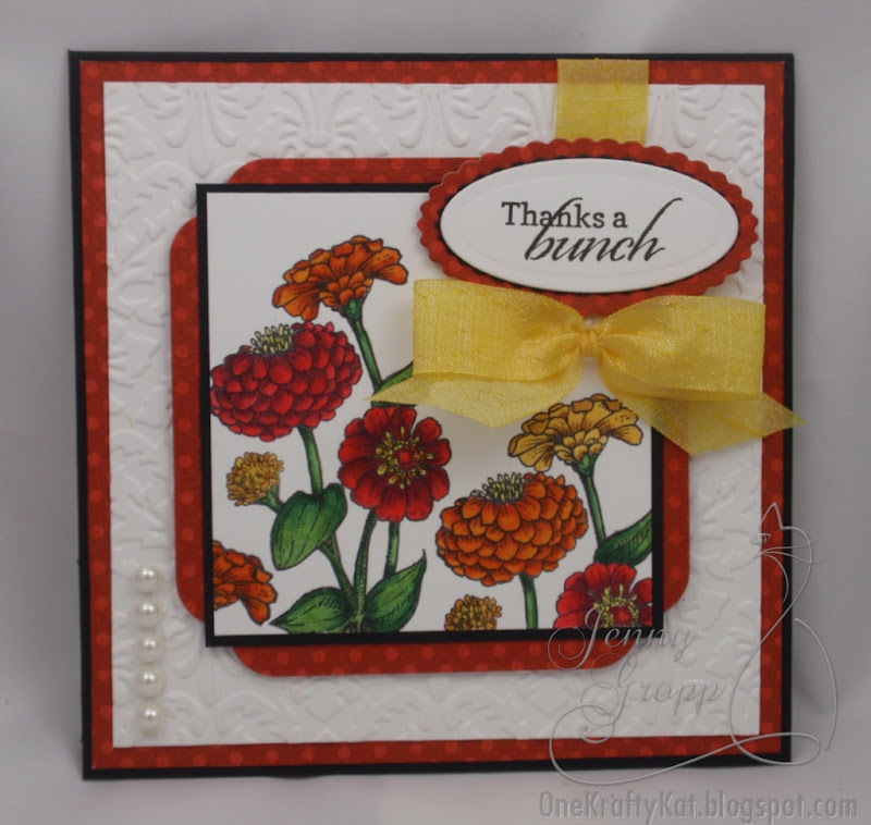 One of the latest releases from Flourishes was this beautiful Zinnias  title=